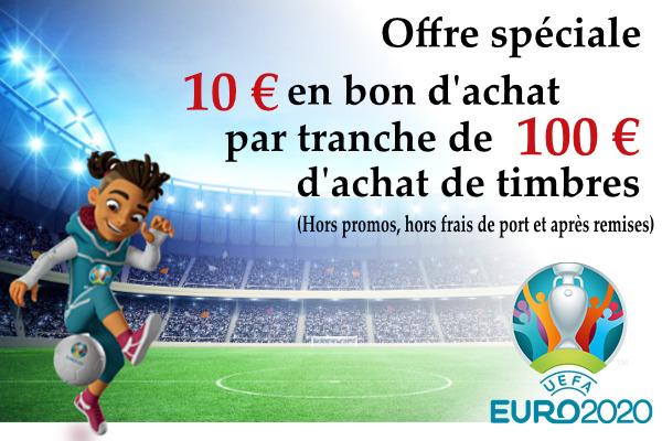 Les Offres spéciales de Philatélie91 pendant l'Euro 2020